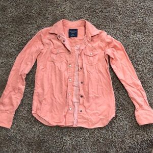 American Eagle, button down, corduroy jacket